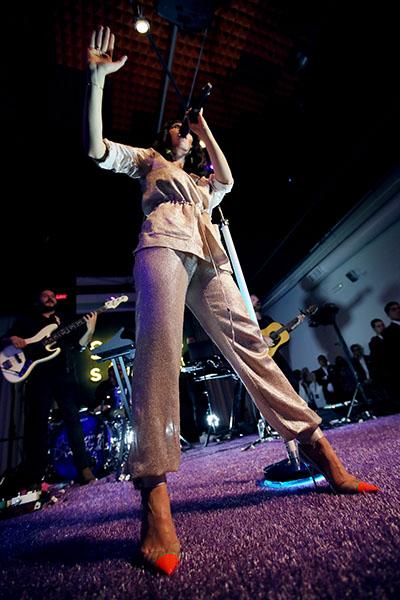 Marina and her Signature Purple Carpet
