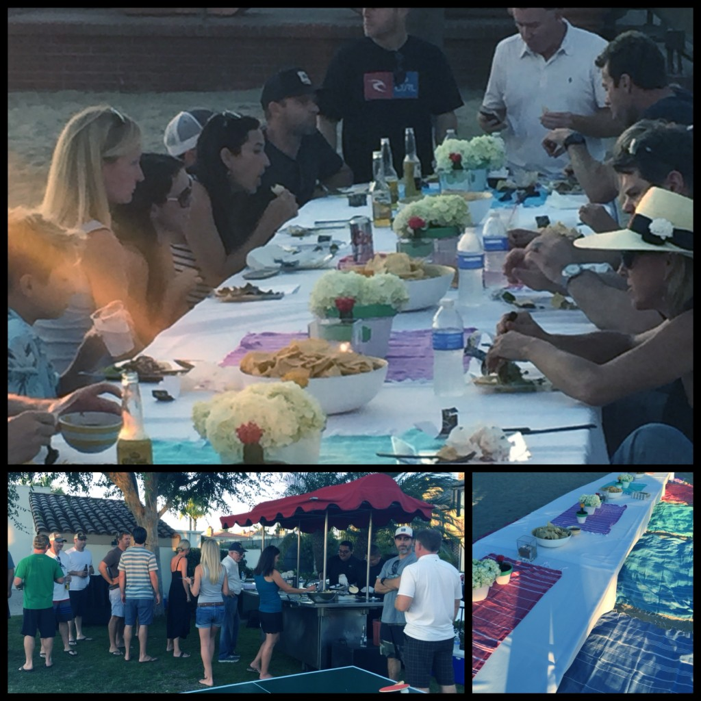 Guests enjoy the low tables and awesome beach vibe